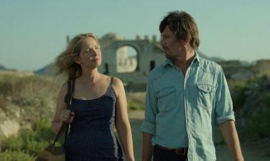 Fotograma de 'Antes del anochecer', de Richard Linklater, amb Julie Delpy i Ethan Hawke