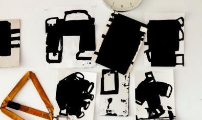 Detall de l'estudi de Frederic Amat. Foto de Salvador del Carril