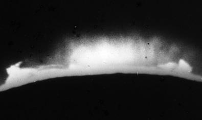 Imatge d'una erupció solar que la promotora i discogràfica fa servir com a material de promoció