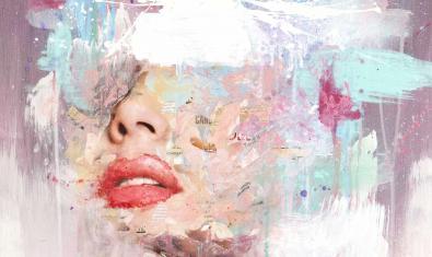 Una de les obres de Ral que formen part de l'exposició