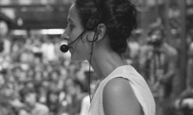 L'artista Laia Estruch, durant la performance
