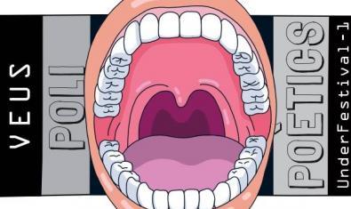 El dibujo de una gran boca abierta sirve de cartel para anunciar el festival