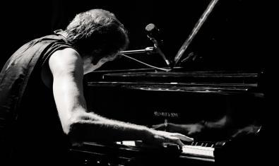 Retrat del músic, d'esquenes, tocant el piano