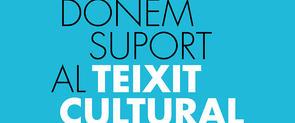 Banner que publicita les mesures destinades a oferir suport al sector cultural
