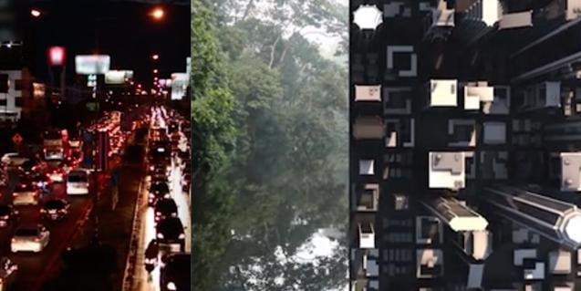 Una imagen de uno de los videos que se pueden ver en el web del CCCB y que combina imágenes de ciudades y espacios naturales