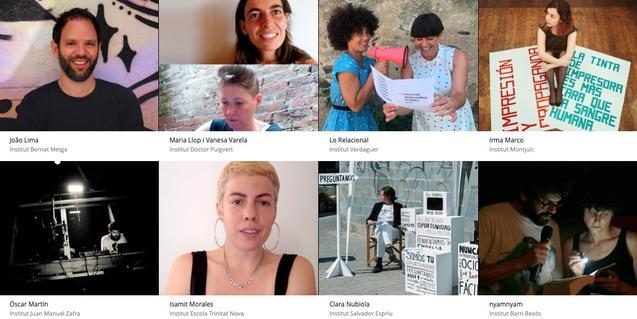 Un collage con imágenes de algunos de los artistas que han participado en la iniciativa