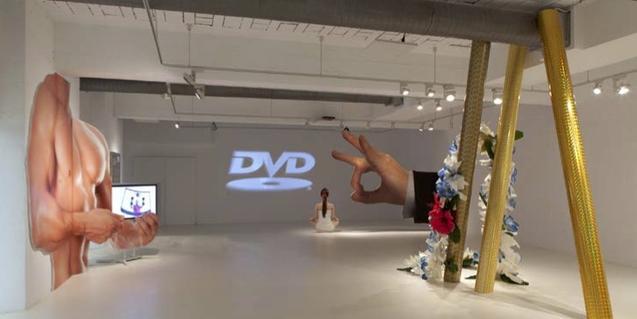 Una imatge de les instal·lacions que formen part de l'exposició de Momu & No Es