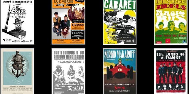 Algunos de los carteles que podéis ver en la exposición