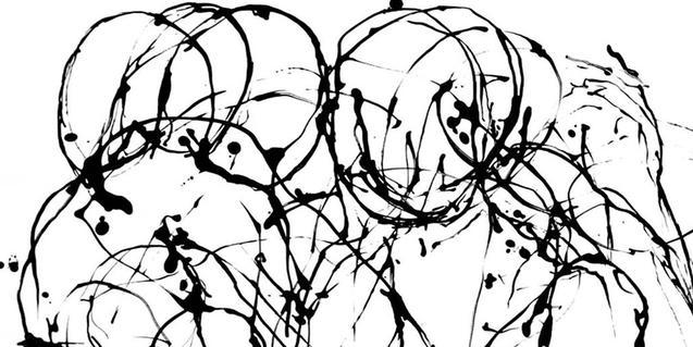 Un fragmento de una de las obras de Albert Coma, creadas a partir de líneas y manchas