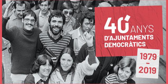 Cartell dels actes de commemoració dels 40 anys d'ajuntaments democràtics