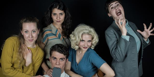 Les quatre actrius i l'actor de '9 to 5'