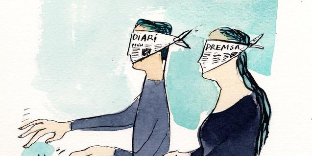 'A tientas', ilustración de Joma