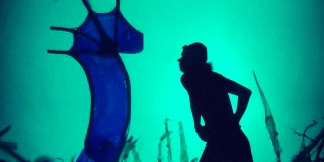 El protagonista se encuentra con un caballito de mar.