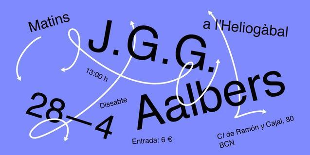 Cartell gràfic que anuncia el doble concert dels J.G.G. i els Aalbers a l'Heliogàbal