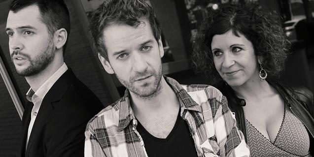 Los tres intérpretes de la versión en catalán del musical 'Tick, tick... boom!'