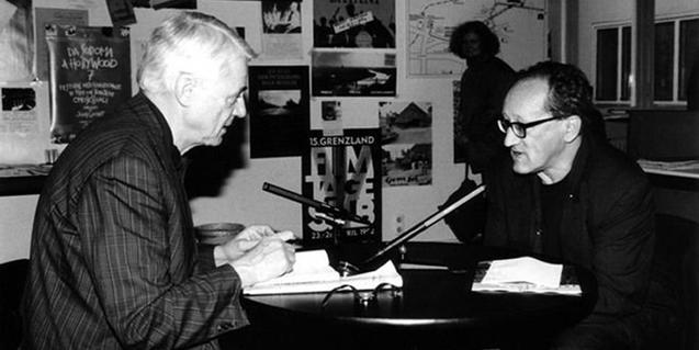 Alexander Kluge i el dramaturg Heiner Müller. © dctp Archiv