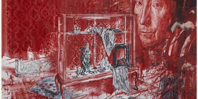 Una de les obres de Julio Vaquero exposades aquests dies