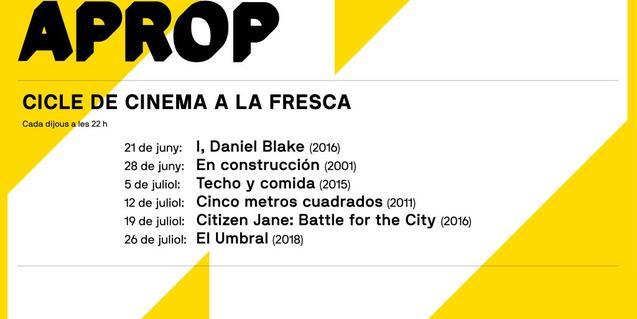 APROP, ciclo de cine al aire libre