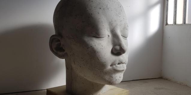 Imatge d'un cap de l'obra de Samuel Salcedo
