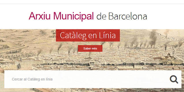 Portal web del Catàleg en Línia de l'Arxiu Municipal de Barcelona