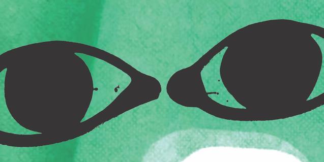 Dos ulls en un fons verd i blau en la imatge que ha creat per a l'espectacle l'artista Frederic Amat