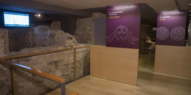 Uno de los espacios del Museu d'Història de Barcelona que se visitan