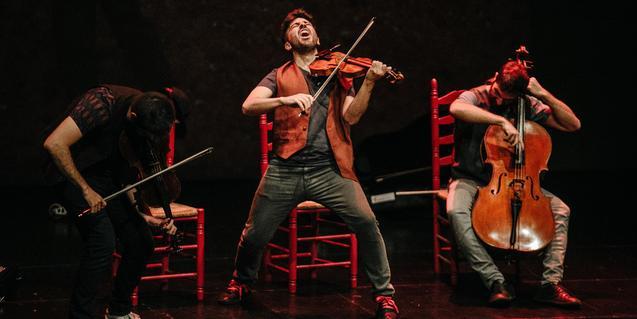 Aupa Quartet, en plena actuación.