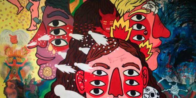 La muestra recoge obras de artistas profesionales junto a piezas realizadas por internos en cárceles