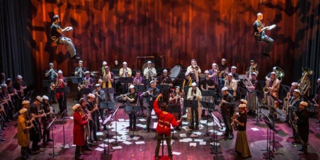 Fotografia del concert amb tota la Banda Municipal a l'escenari