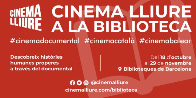 Cartell del cicle Cinema Lliure a la Biblioteca