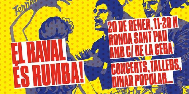 Cartell que anuncia l'esdeveniment del 20 de gener al Raval