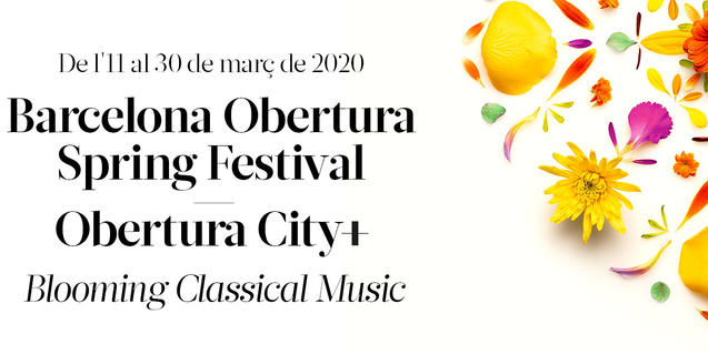 Imatge del cartell del Barcelona Obertura Spring Festival 2020