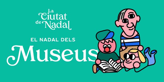 """Imatge amb el lema """"La ciutat del Nadal. El Nadal dels museus"""""""