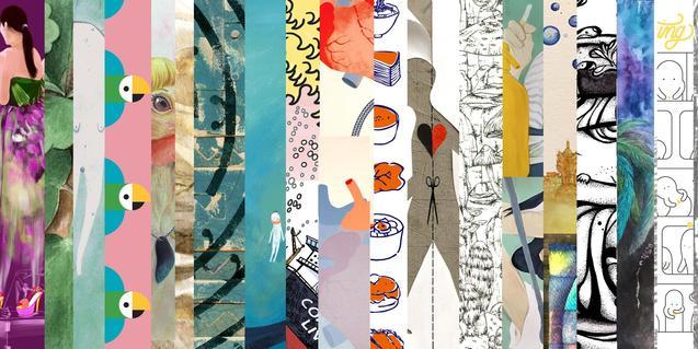 Un collage fet amb il·lustracions de diversos artistes