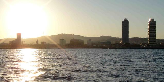 Vistas de Barcelona desde el mar