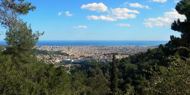 Vista de Barcelona des de la serra de Collserola