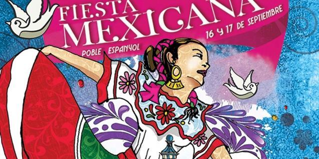 Imagen del cartel del festival Barcelona Vive México