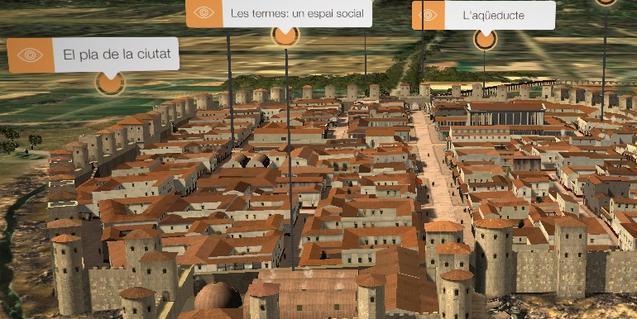 L'aplicació Bàrcino 3D permet visitar la Barcelona romana virtualment