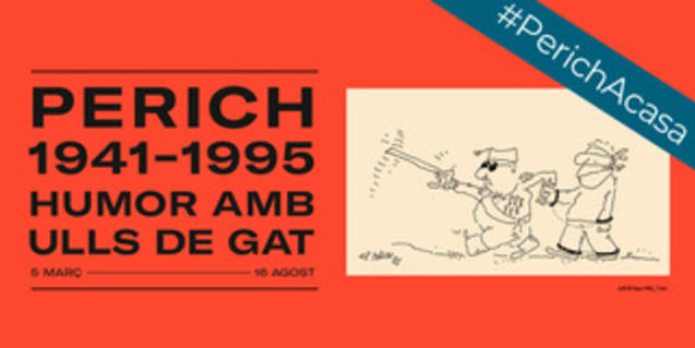 El cartel que anuncia la exposición con uno de los dibujos de Perich