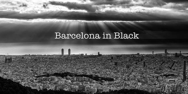 Una de les imatges del vídeo, que mostra Barcelona en blanc i negre