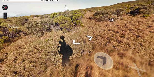 Un paisaje de las islas de Reunión visto por Google Stret View