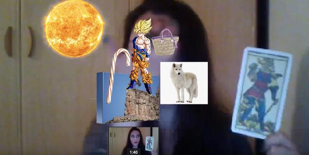 Una imagen del video preparado por Beatriz Sánchez con imágenes alusivas a la carta del Loco del tarot