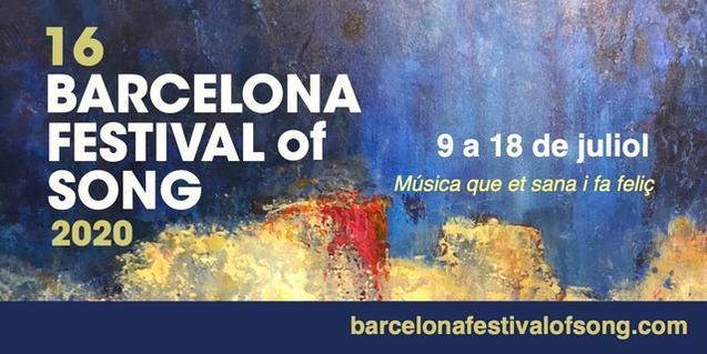 Cartell del Barcelona Festival of Song
