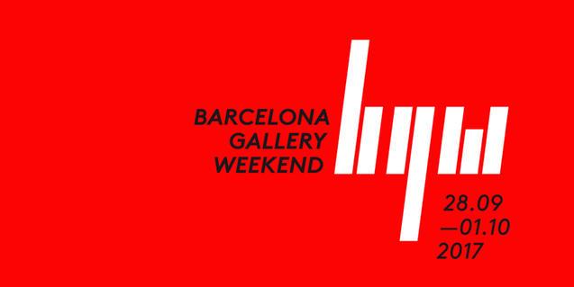 Cartell de la Barcelona Gallery Weekend 2017