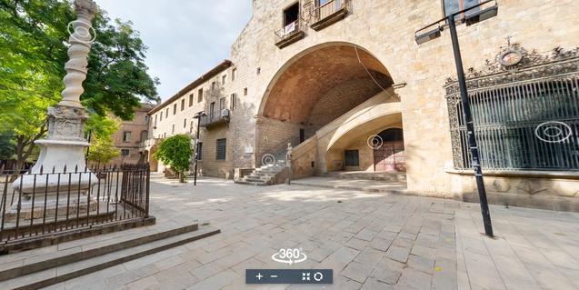 Captura de pantalla del web de la visita virtual a la Biblioteca de Catalunya