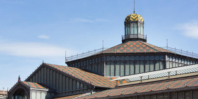 The domed roof of the Mercat del Born, which currently houses El Born CCM