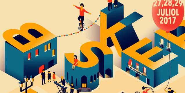 El cartel de la edición de este año combina letras y dibujos representando a los artistas del festival