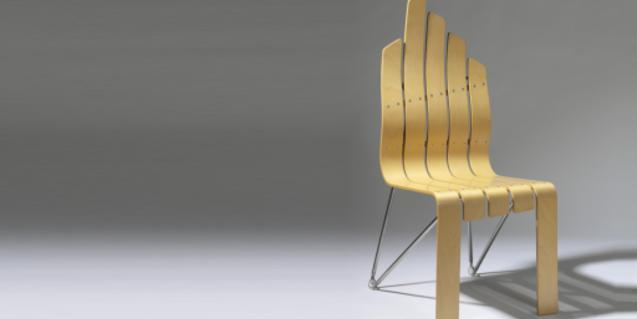 Cadira 'Sentada', una de les peces presents a l'exposició