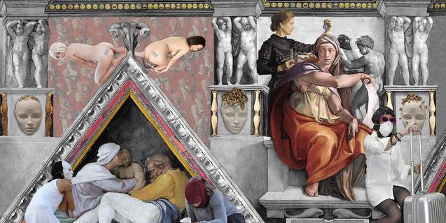 Un fragment de l'obra de Lluís Barba que versiona la Capella Sixtina
