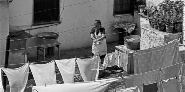 Terrat del carrer d'en Carabassa. Arxiu Fotogràfic de Barcelona